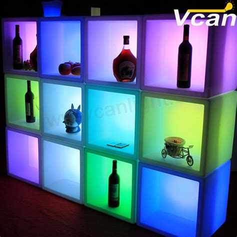 glowing storage container led light up cube led