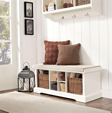 Entryway Storage Cubby Bench & Shelf