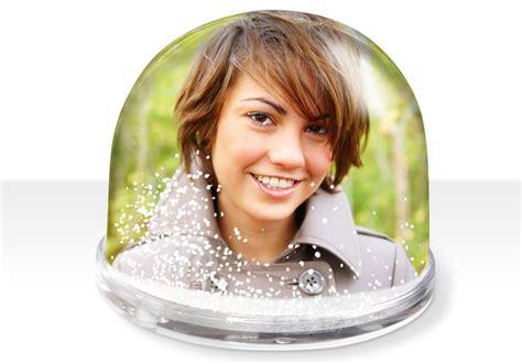 tablier cuisine personnalisable boule à neige personnalisée avec photo à commander sur