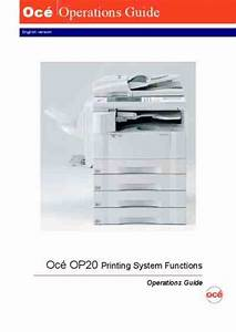 Oce Op20 Operations Guide Printing System Functions