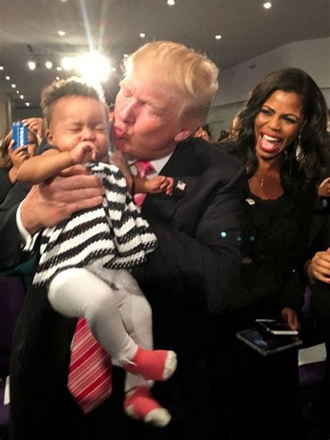 trump donald detroit he kissing omarosa children daughter supporters came got church campaign african american does looks debate go presidential