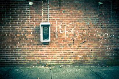 Urban Brick Phone Grungy Parede Backgrounds Muro