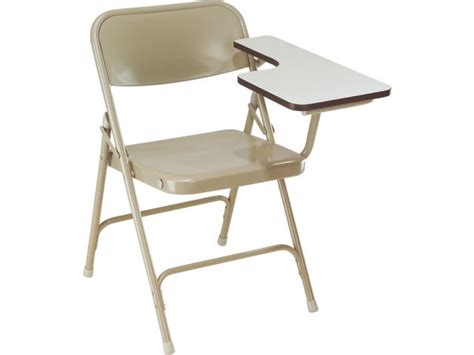 folding tablet arm chairs in gray or beige