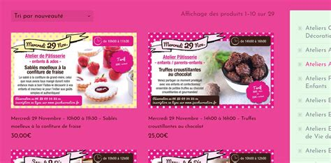 creation de cuisine création de site web de cours de cuisine patisserie à