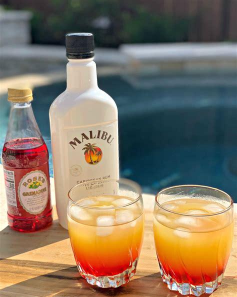 White creme de menthe, malibu rum, white creme de cacao, mint sprig. Malibu Sunset Cocktails - The Cookin Chicks