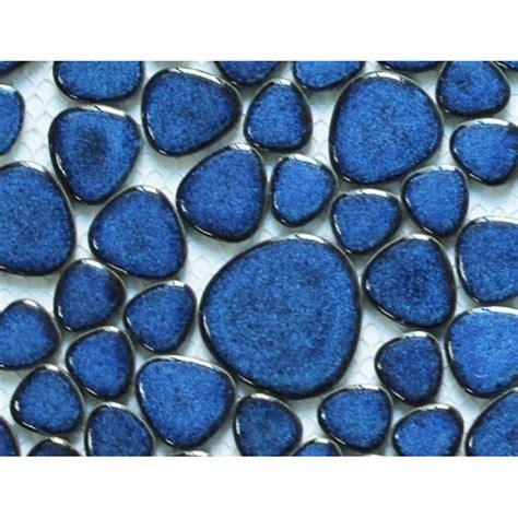 pebble ceramic tile glazed porcelain tile mosaic pebble blue ceramic wall tiles backsplash