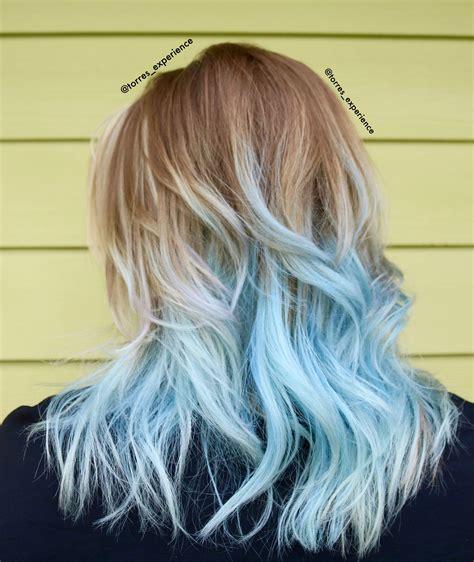 Pastel Blue Hair Frozen Hair Hair Cut And Colour In 2019