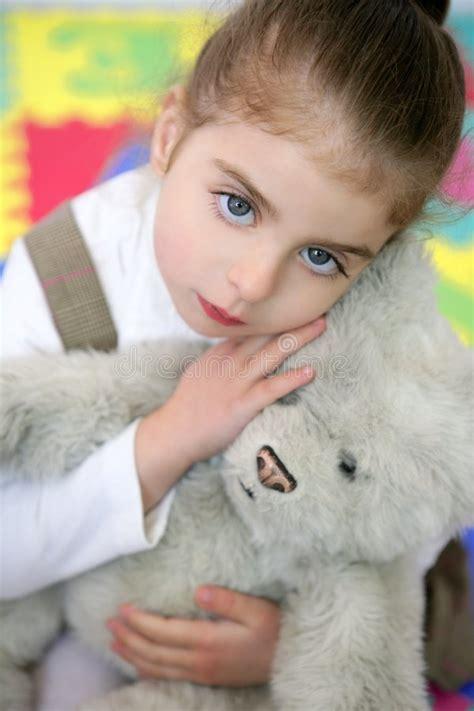 beautiful hug teddy stock photo image 479 | beautiful little girl hug teddy bear 9169190
