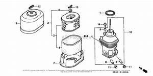 Honda Engines Gx340 Va Engine  Jpn  Vin  Gc05