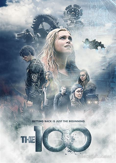 quot the 100 season 5 quot posters by thescarletwoman redbubble