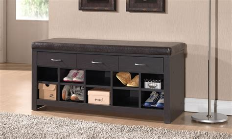 shoe storage cabinets  entryway benches groupon