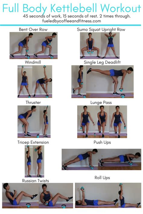 kettlebell workout body step instructions