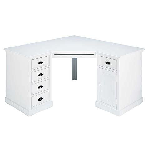 maison du monde bureau newport bureau d 39 angle 1 porte 5 tiroirs en sapin blanc newport