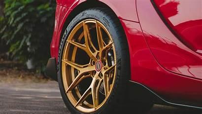 Wheels Vossen Gold Supra Toyota Inch Gr