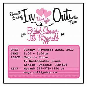 bridal shower invitation date night theme 25 5000 With wedding invitations date format