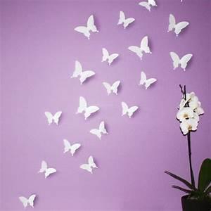 3d Schmetterlinge Wand : wandtattoo schmetterling 3d oder einzeln ~ Whattoseeinmadrid.com Haus und Dekorationen