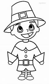 Pilgrim Coloring Pages Printable Pilgrims Hat Cool2bkids Thanksgiving Indians Indian Children sketch template