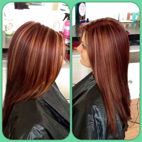 Red Hair Color Dimensional Color Highlights Cant Wait