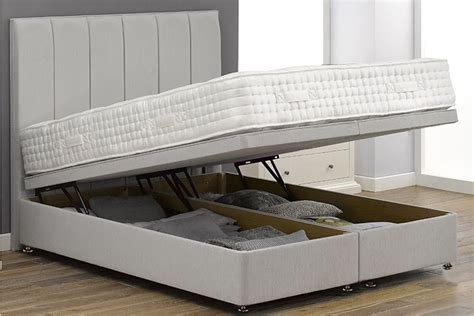 Divan Ottoman Bed by Suede Fabric Ottoman Storage Divan Base Ottoman Beds At
