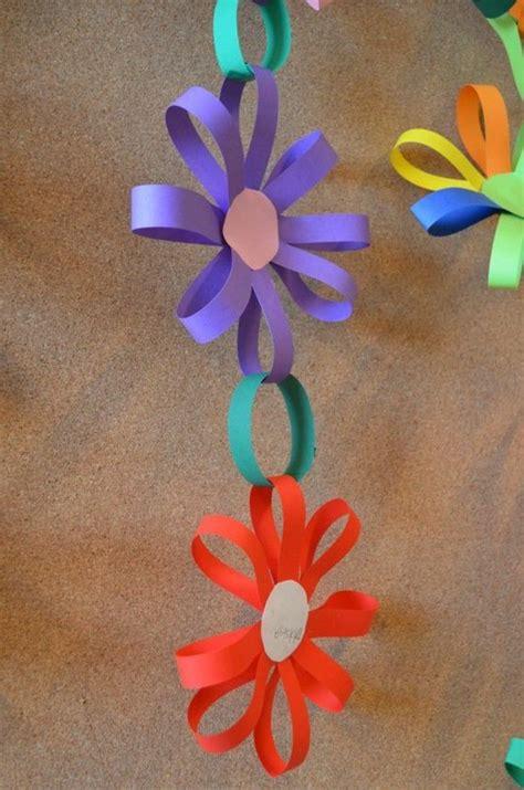 verblueffende bastelideen aus papier basteln fruehling kinder basteln fruehling und basteln