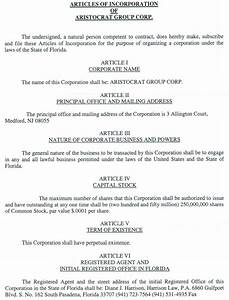 llc bylaws template - aristocrat group corp form s 1 ex 3 articles of