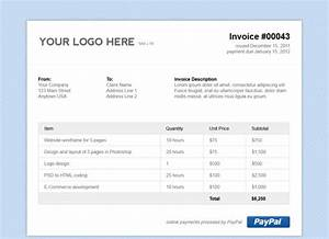 Free email invoice template buyretinaus for Photo gallery html template free download