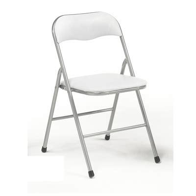 silla plegables metalicas blancas