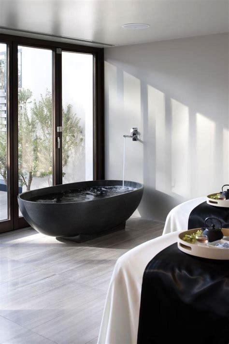 black bath tubs  elegant statement  design library