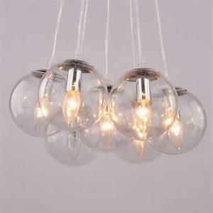 Luminaire Boule Verre : suspension boules en verre 7 verres transparents septua ~ Teatrodelosmanantiales.com Idées de Décoration