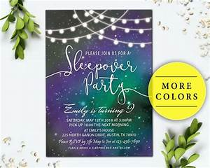 Kids Birthday Invitation Card Template 15 Creative Sleepover Invitation Designs Templates