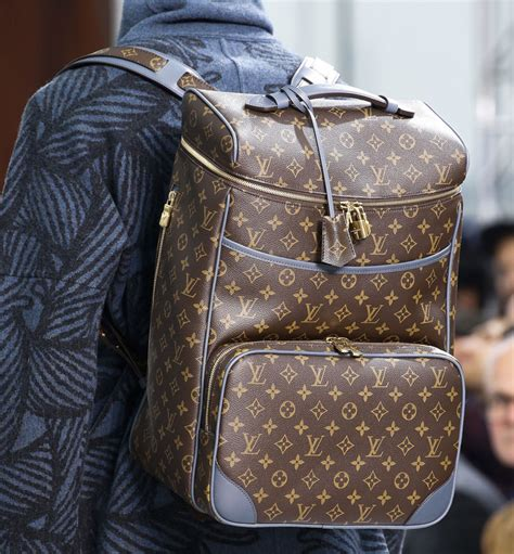 monogram   major comeback  louis vuittons fall  menswear show purseblog