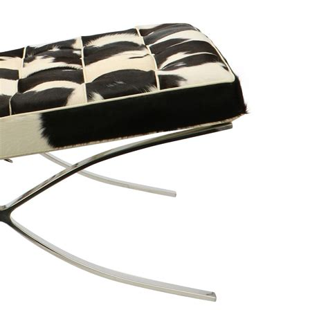 Cowhide Barcelona Chair by Barcelona Chair Cowskin Black At