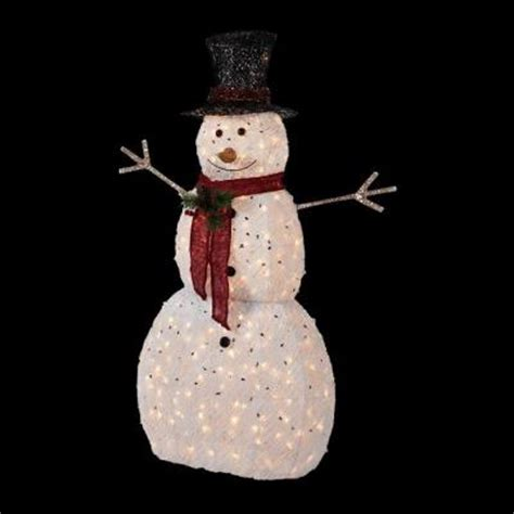 home accents 5 ft pre lit snowman with hat ty314