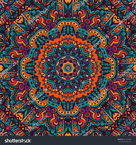Festive Colorful Tribal Ethnic Seamless Vector Stock