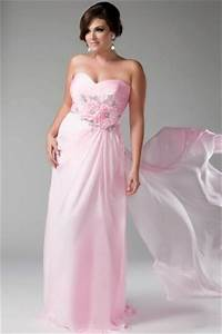 robe de soiree rose fluide grande taille jmrougefr With robes ceremonie grande taille