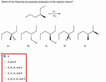 Possible Following Reaction Which Shown Solved Transcribed