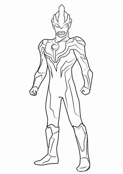 Ultraman Mewarnai Coloring Untuk Putih Hitam Ginga