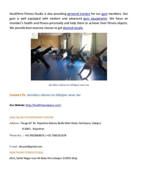 udaipur classes near aerobics