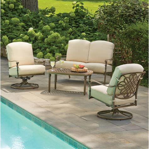 hton bay cavasso 4 metal outdoor seating set