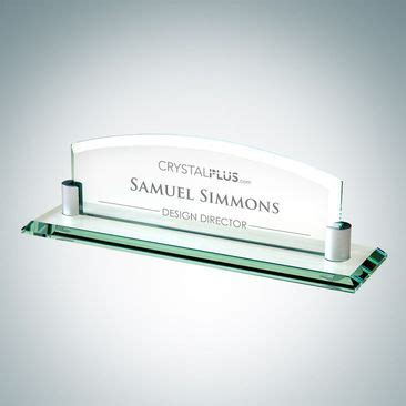 glass desk name plates 22 best images about executive gifts on