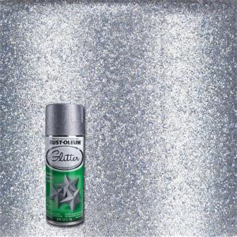 rust oleum specialty 10 25 oz silver glitter spray paint 267734 the home depot