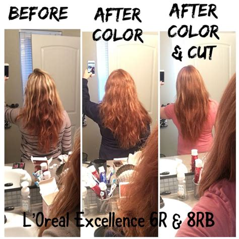 loreal excellence hair color  rb loreal redhair
