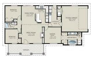 two bedroom two bath house plans ranch style house plan 3 beds 2 baths 1493 sq ft plan 427 4
