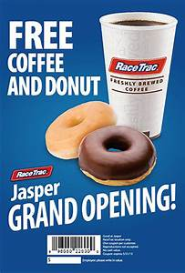 Enjoy FREE Coffee and a Donut with Jasper RaceTrac's RT6K ...