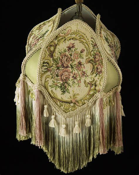 plain jane l shades bridge victorian lampshade sage pink tapestry fabric