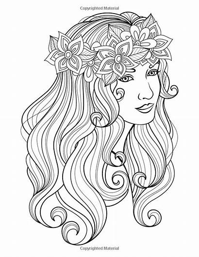 Coloring Pages Faces Adult Colouring Grown Books
