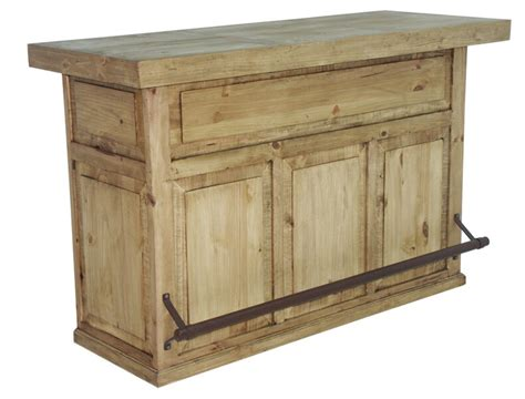 Honey Rustic Home Bar Solid Wood Man Cave Western Game