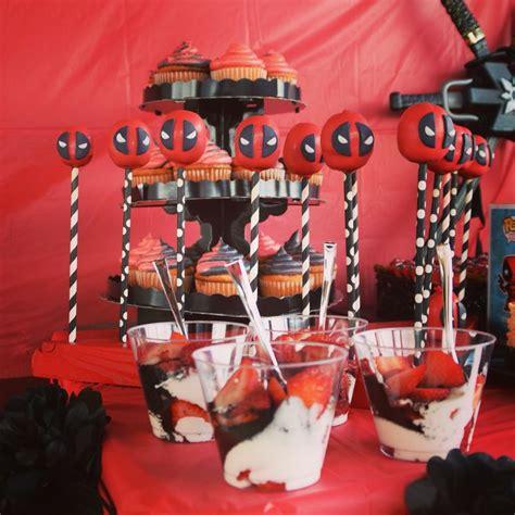 deadpool cake pops deadpool  birthday invitations