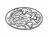Salad Coloring Drawing Pages Colouring Bowl Coloringcrew Getdrawings sketch template
