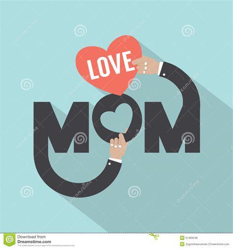 love mom typography design stock vector image 51469448